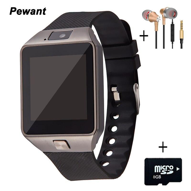 Galleria fotografica Usine En Gros Portable Dispositifs DZ09 Montre Smart Watch Avec Caméra Carte SIM Andriod <font><b>Smartwatch</b></font> Pour Hommes Femmes Cadeau Électronique Intelligente