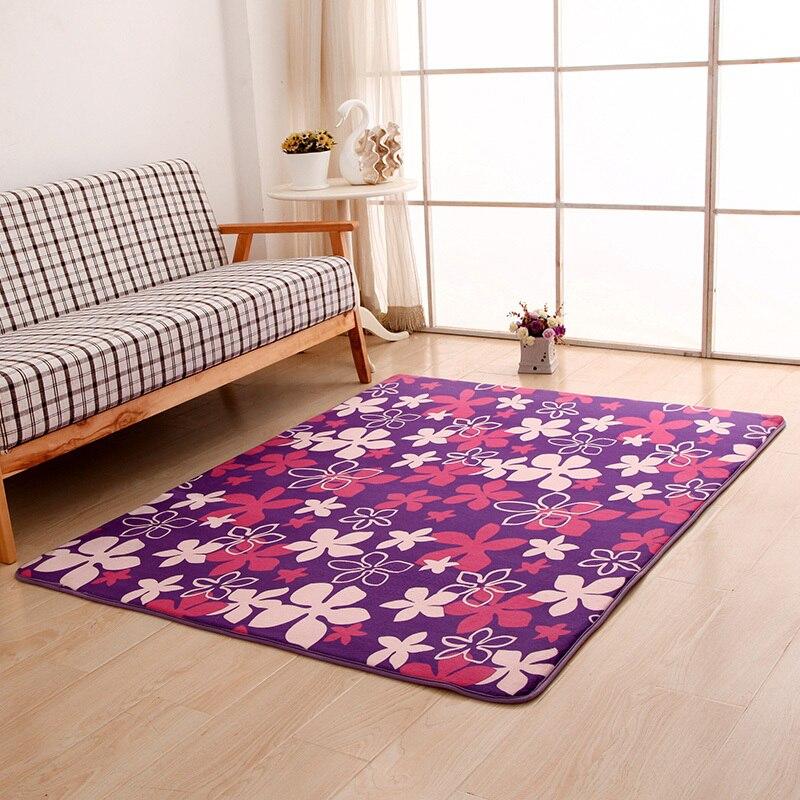 colores de terciopelo de coral suave alfombra alfombra puerta alfombra de piso para el