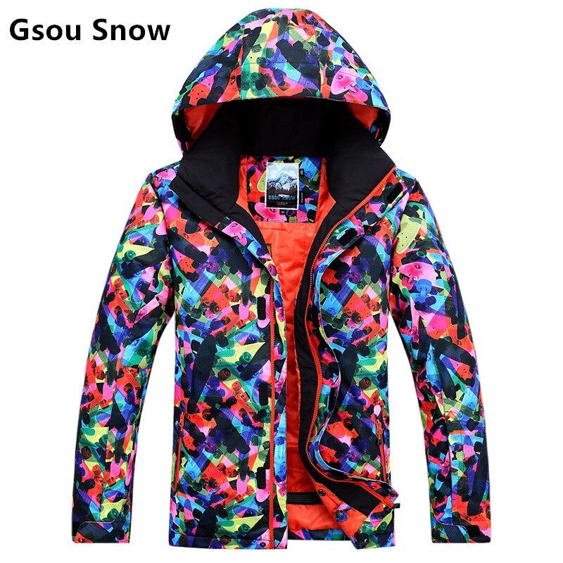 GSOU SNOE combinaison de ski homme hiver garder au chaud imperméable coupe-vent extérieur Camping ski Snowboard épaissir thermique manteau vestes