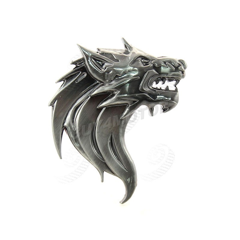 buy 1pcs 3d sticker personalized car auto wolf head logo left right front. Black Bedroom Furniture Sets. Home Design Ideas