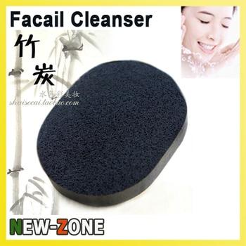 Limpiador Facial de bambú limpieza profunda esponja de lavado Facial Suave Puff poros Ance Blackhead tratamiento de limpieza