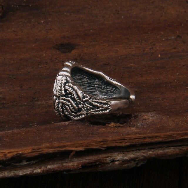 Dropshiping Odin Symbol Norse Viking Runes Rings For Men Runic 3