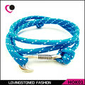 Hope Men's Fish Hook Bracelet ,34 Colors Rope Wrap Anti-silver Nautical Wrap Hook Bracelets On Sale-HOK01