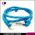 La esperanza de Los Hombres Pulsera Anzuelo, 34 Colores Del Abrigo de la Cuerda Anti-Gancho Wrap Pulseras de plata Náutico En Sale-HOK01