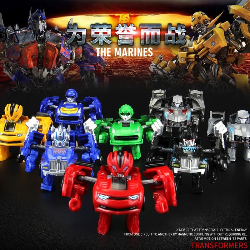Mini Robot bil Transformation Robots Bilmodell Klassiska pojkar - Toy figuriner - Foto 4