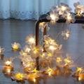 10 м 80 цветок Франгипани светодиодные гирлянды  батарея цветочный Праздник Свет декор  событие украшение гирлянды  украшение спальни
