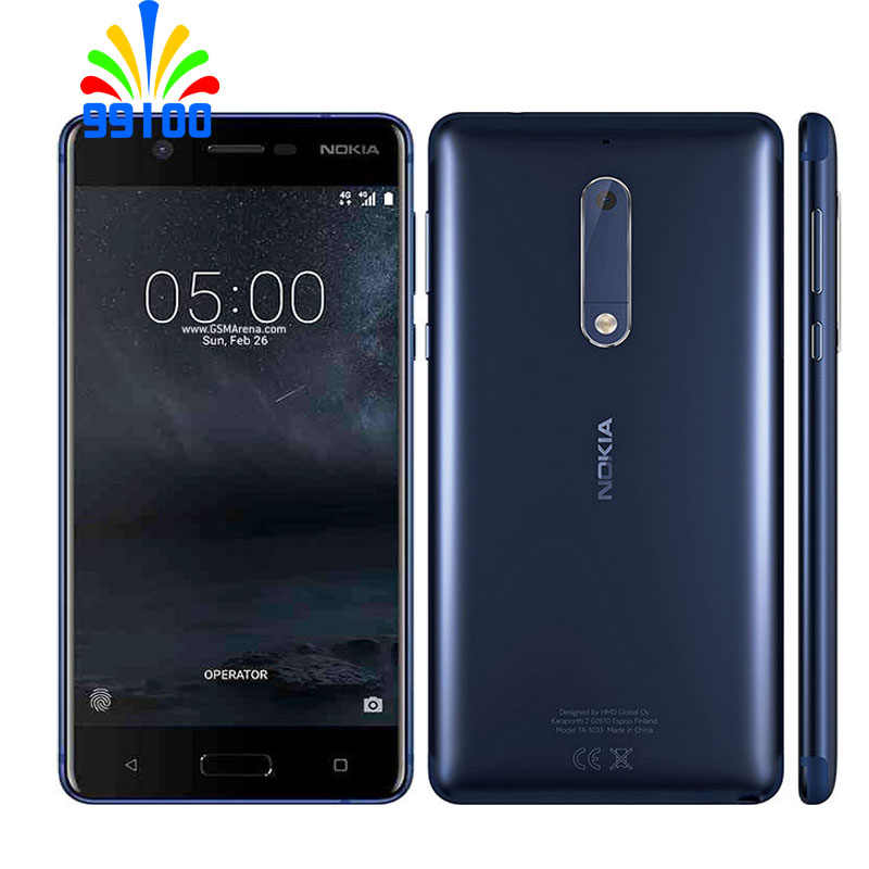 Débloqué d'origine Nokia 5 Qualcomm 430 Octa Core 5.2 pouces écran 2 GB + 16 GB (support 256 GB SD) 13.0MP empreinte digitale 4G-LTE