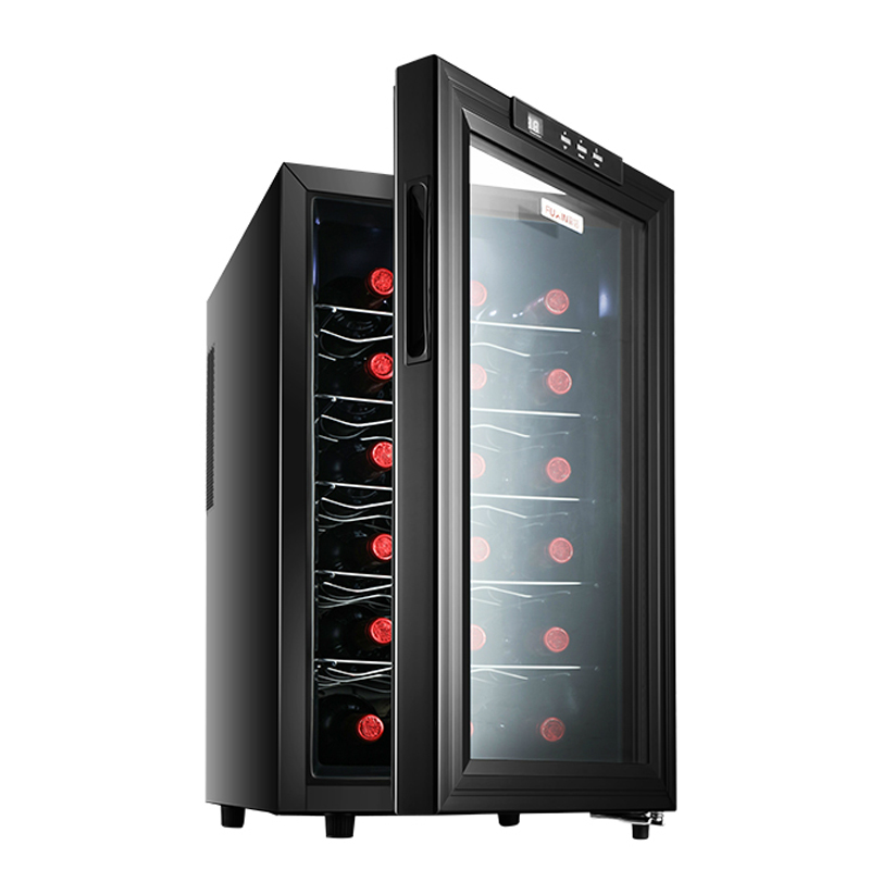 18pcs Red Wine Refrigerator Thermostat Whisky Wine Cabinet Anti-UV Tempered Glass Door Wine Tea Storage Cabinet Electric Freezer