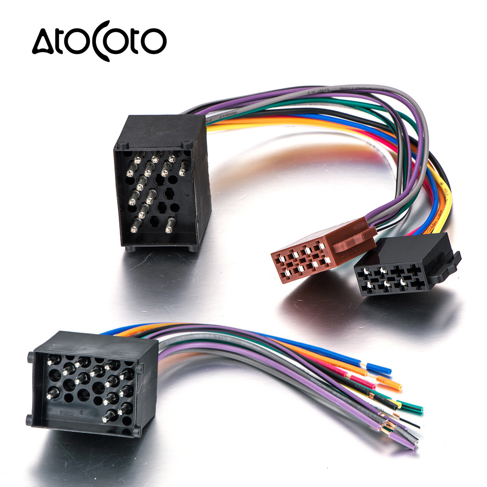 US $7.0 9% OFF|Audio Stereo ISO Standard Wiring Harness for BMW 3 5  With Wiring Harness on