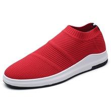 Ariari 2018 носки сникерсы мужская повседневная обувь мужские модные сникерсы Fly knit Light weight Slip-on Мужская обувь