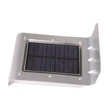 16LED Солнечный Мощность Панель светильник движения Сенсор детектор напольный светильник