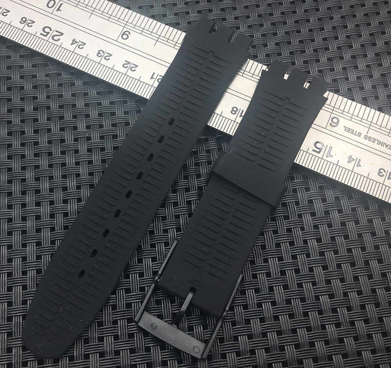 Top grade quality 19mm nature soft Silicone Replacement Watch Band watchband For SWATCH strap Men and Women SUO series SUOB704