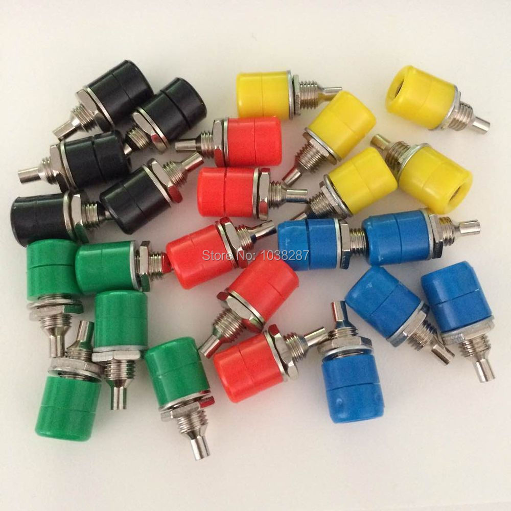 Lengthen Binding Post Extended Terminal 4mm Jack Mother Banana  Teaching Instrument Test Socket 4mm Jack Female 50pcs Wholsale