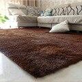 1 unids 80x120 cm modelos de explosión sedoso carpet mats sofá salón dormitorio antideslizante alfombras de piso dormitorio alfombra suave fuentes del hogar