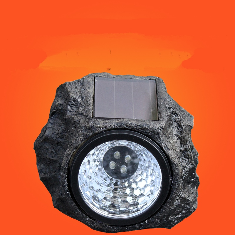 Decorative 4 leds LED Solar Panel Stone Lawn Lights Waterproof Outdoor Garden Lamp Energy Saving New Year Christmas Garland цена 2017