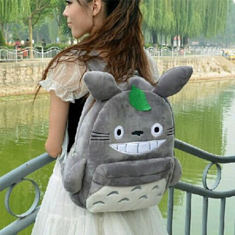 25/35cm New Arrival Funny Creative Cute Totoro Plush Backpack Cute Soft School Bag Kids Child girl Cartoon coin Bag kawaii gift
