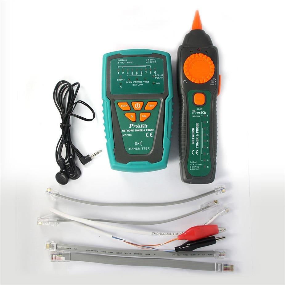 Selling Pro'sKit MT-7028 Network Toner Probe Kit Audio Network Check Line Tester Tracker Networking, Datacom, Audio TV Cable mt 7028 audio cable tester for audio network search and cable fault tester