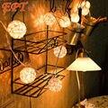 5 M 20 LED de LA UE/EE. UU. Blanco Cálido Rattan Bola LED Cadena de Iluminación de Vacaciones Del Banquete de Boda de Navidad Decoración de La Cortina luces de La Gota