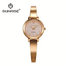 Las mujeres mujeres Del Reloj de Señoras del reloj de oro Relojes de Pulsera de Acero Inoxidable Marca AMANECER Mujer montre femme reloj Impermeable reloj