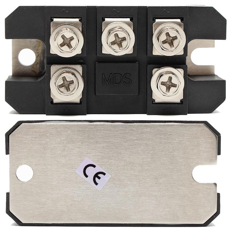 MDS150A 3 фазы диодный мост выпрямителя 150A Amp 1600V Медь 150 по Цельсию 80x40x33 мм металлический чехол диодный мост Управление