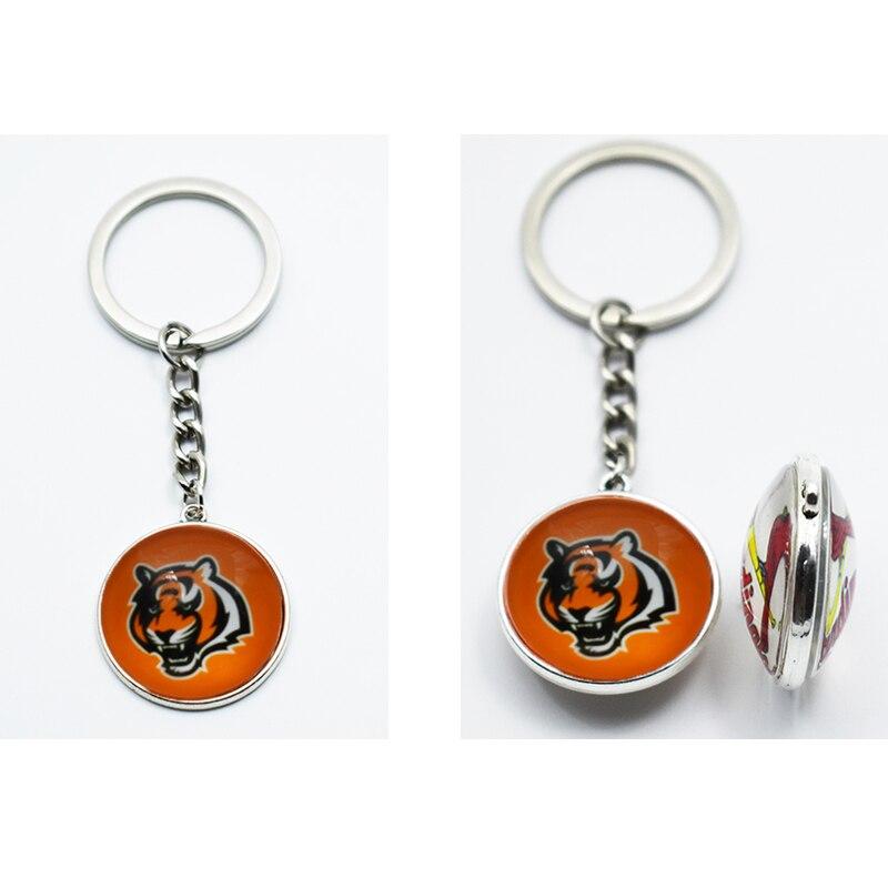 25 мм время Gem Jewelry брелок для Вентиляторы любовь Футбол Спортивная команда Chicago Bears брелок ювелирные изделия