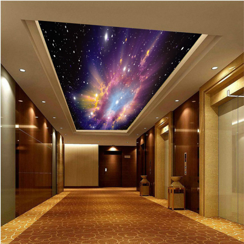 large mural custom 3d wallpaper night sky universe fantasy living room bedroom children's room for ceiling backdrop beibehang customize universe star large mural bedroom living room tv background wallpaper minimalist 3d sky ceiling wallpaper
