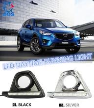 2 шт./компл. СИД DRL Дневной свет лампы дневного Бег фары автомобиля DRL LED комплект для Mazda CX-5 CX5 CX 5 2012 2013 2014 2015