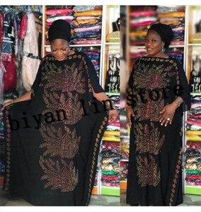 Image 1 - Dress Length:135cm Bust:160 New Fashion dresses Bazin Print Dashiki Women long/grown Yomadou Color Pattern oversized