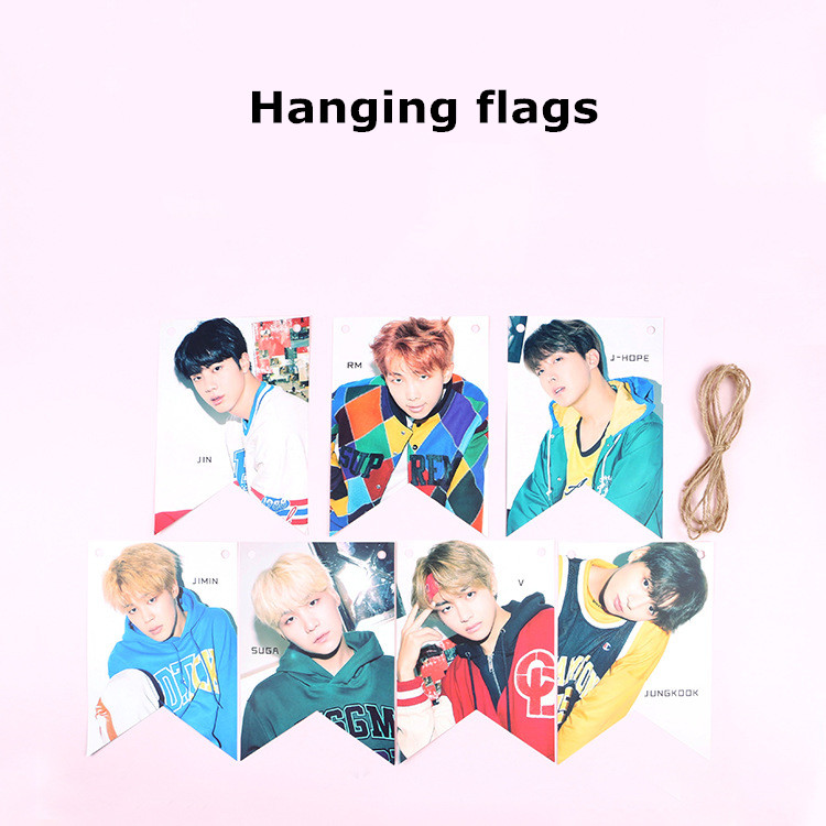 Oppa store  BTS bangtan boys Double Sided Photo Hanging Pendant Poster Interior