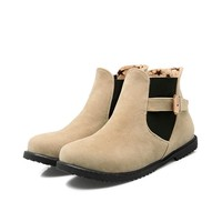2016 Biggest Size Shoes 30 52 Autumn Winter Style Ankle Women Woman Ankle Boots Botas S
