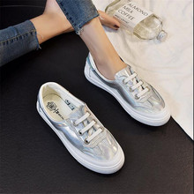 Mhysa 2019 New Spring With White Shoes Women Flat Leather Canvas