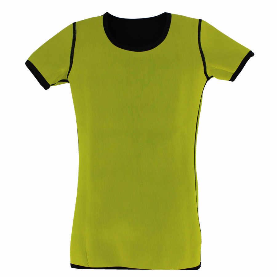 Пояс для похудения Пот Сауна футболка для женщин формирователь тела короткий рукав Талии Тренажер Корректирующее белье снижение веса корректор корсет