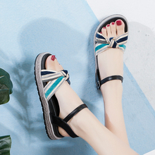 Women Flats Sandals Open Toe Ankle Strap Women Summer Shoes Korean Sandals Vacation Daily Footwear coolcept size 34 43 simple women wedges sandals open toe ankle strap rivet sandals summer daily leisure shoes women footwear