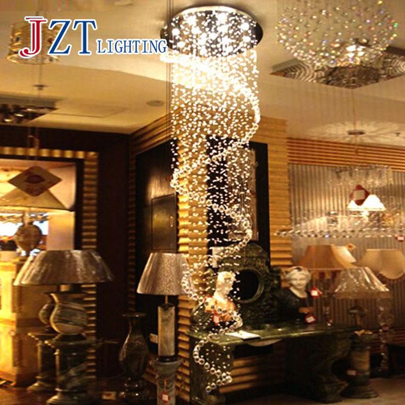Z Modern K9 Crystal Chandeliers bedroom Lamp Double Staircase LED Crystal pendant lamp villas led lamp chandelier