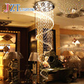 Z Modern K9 Crystal Chandeliers bedroom Lamp Double Staircase LED Crystal pendant lamp villas led lamp chandelier