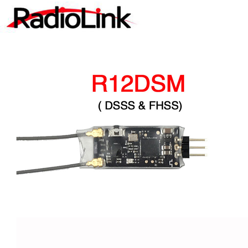Radiolink R12DSM Micro Mini Receiver 2.4G 12CH SBUS/PPM Signal Support DSSS /FHSS Spread Spectrum for AT9 AT9S AT10 AT10