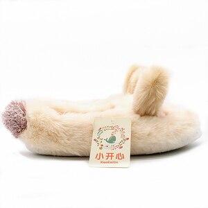 Image 2 - Зимние домашние плюшевые тапочки с милыми животными для влюбленных; Обувь для мужчин и женщин; Мягкие теплые пушистые тапочки в форме собаки; Лучший подарок для девочек