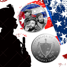 WR 999 Silver Plated Coin Fidel Castro Famous Person Colorful Coin 90th Anniversary Christmas New Year Gift Collection