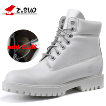 ZSuo woman Motorcycle Boots Leather Street Moto Racing shoe race Ankle Four Seasons casual Protective Gears female shoes