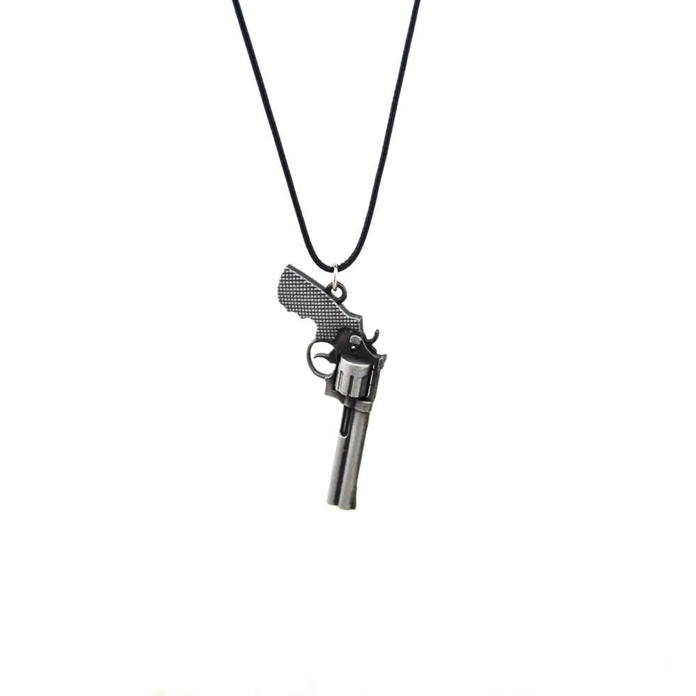 Counter Strike ใหม่หนังผู้ชาย Revolver Choker สร้อยคอ Vintage Gold CS GO ปืนสร้อยคอสร้อยคอเครื่องประดับของที่ระลึกของขวัญ