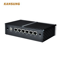 Kansung Мини ПК с Celeron Core i7 7th поддержка Pfsense AES NI 6 гигабитная Сетевая интерфейсная карта роутер с файрволом Linux Ubuntu безвентиляторный ПК