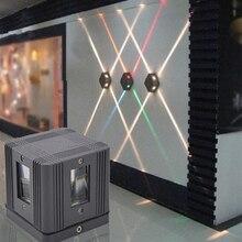 3W Wall Lamp 85-265V Led Outdoor Indoor Waterproof Cross Decor Light Stair Lighting