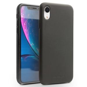Image 2 - QIALINO stylowy prawdziwej skóry skórzane etui do Apple iphone XR 6.1 cali Ultra cienki ręcznie Anti knock tylna pokrywa dla iphone XR