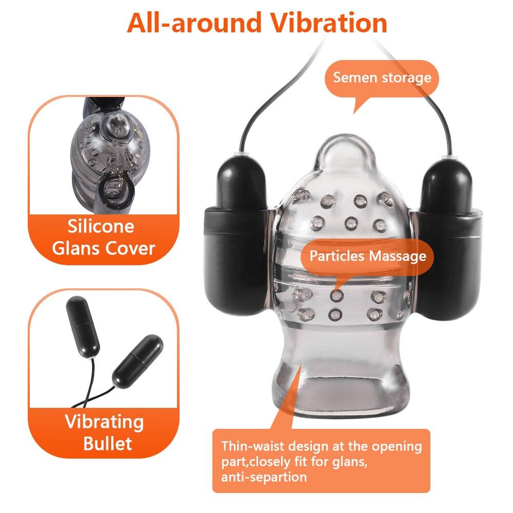 Penis Vibrator Penis Massager Trainer Glans Vibrator Men Sex Toys Enhancement Delay Lasting Erection Adult Male Masturbation<