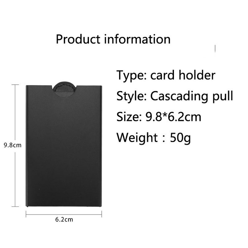 Business Luxury Brand Credit Card holder women men Package Card Holder Pull type Business Card Case Porte Carte id card holder in Card ID Holders from Luggage Bags