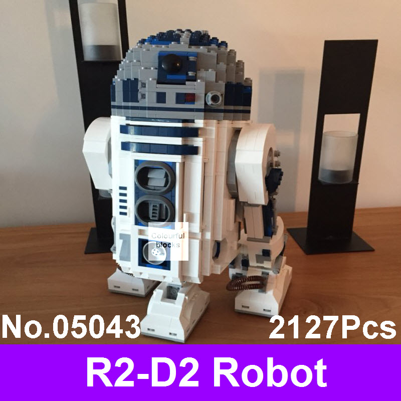 LEPIN 05043 2127Pcs Genuine Star Series Wars The R2-D2 Robot Model Set Out of Print Building Blocks Bricks Children Toys 10225 riggs r library of souls