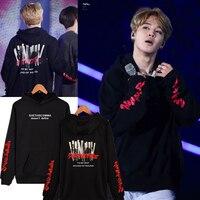 BTS Kpop Bangtan Boys JIMIN Women Hoodies Sweatshirts Flower Streetwear Harajuku Fashion Hoodie Women Oversize Tracksuit