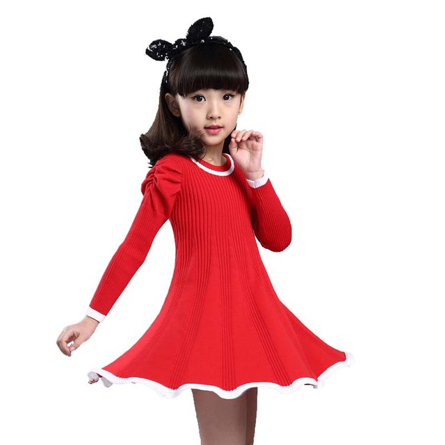 9e429855c0b Knitted Sweater Dress Pullovers Sweaters With Lace Shrugs Dresses Crochet  Long Girls Sweater Autumn Winter Kids Boutique Outfits