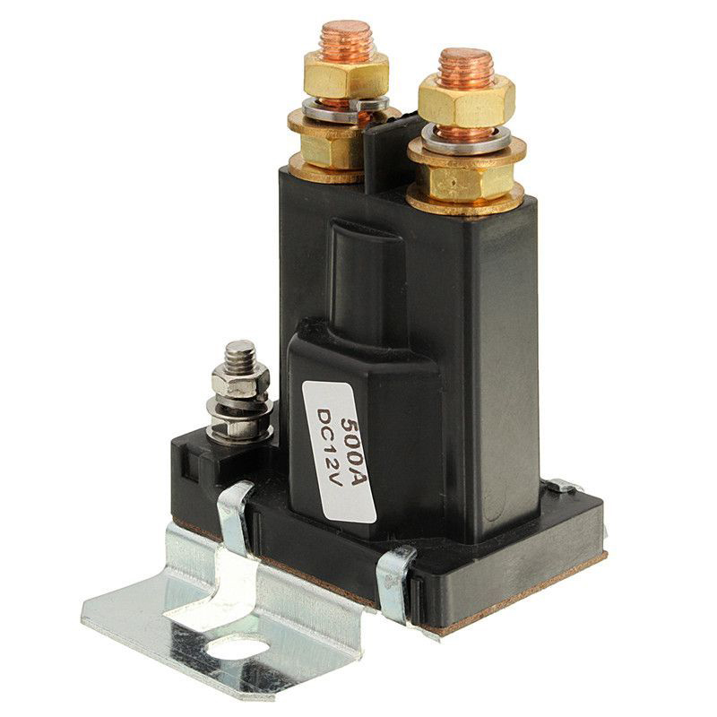 ON/OFF Black Plastic Car 4 Pin DC 12V/24V Dual Battery Isolator Starter Relay 500A Brand New 1PC Hot High Quality