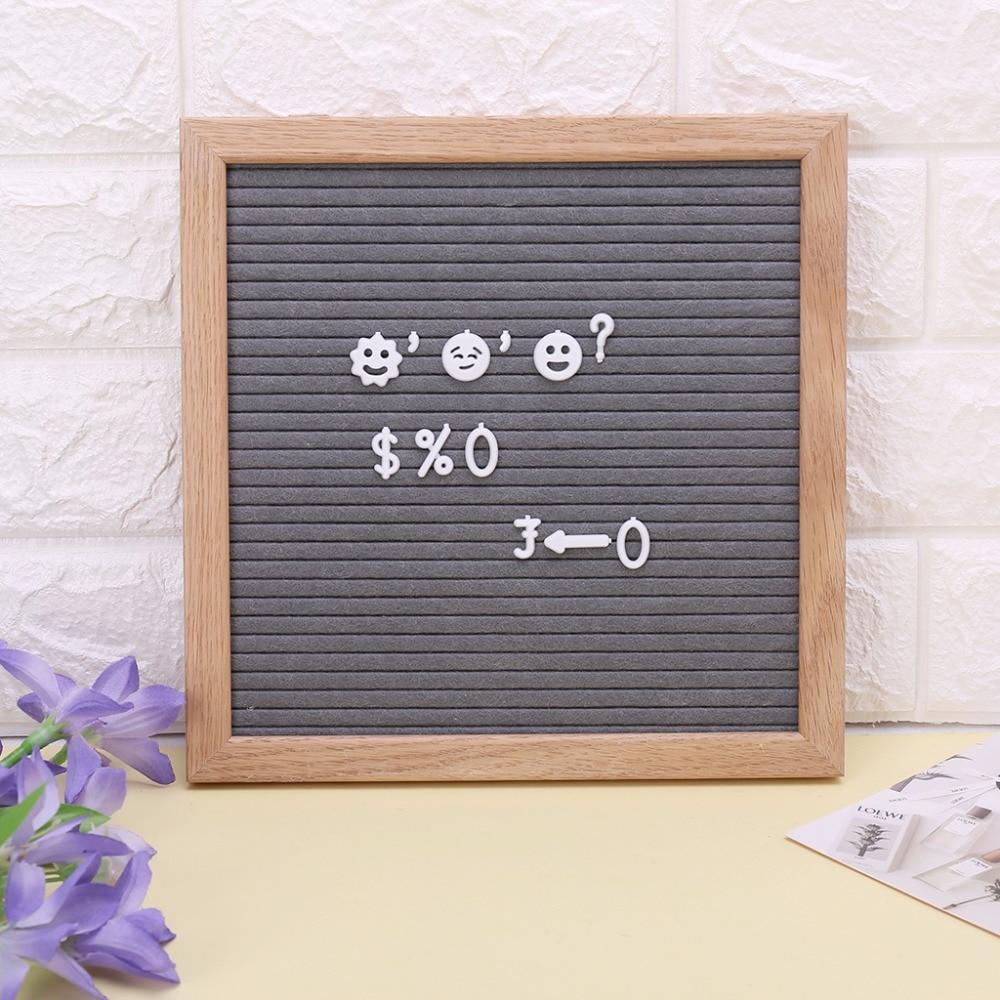 Felt Letter Message Board Oak Frame White Letters Symbols Numbers Characters Bag
